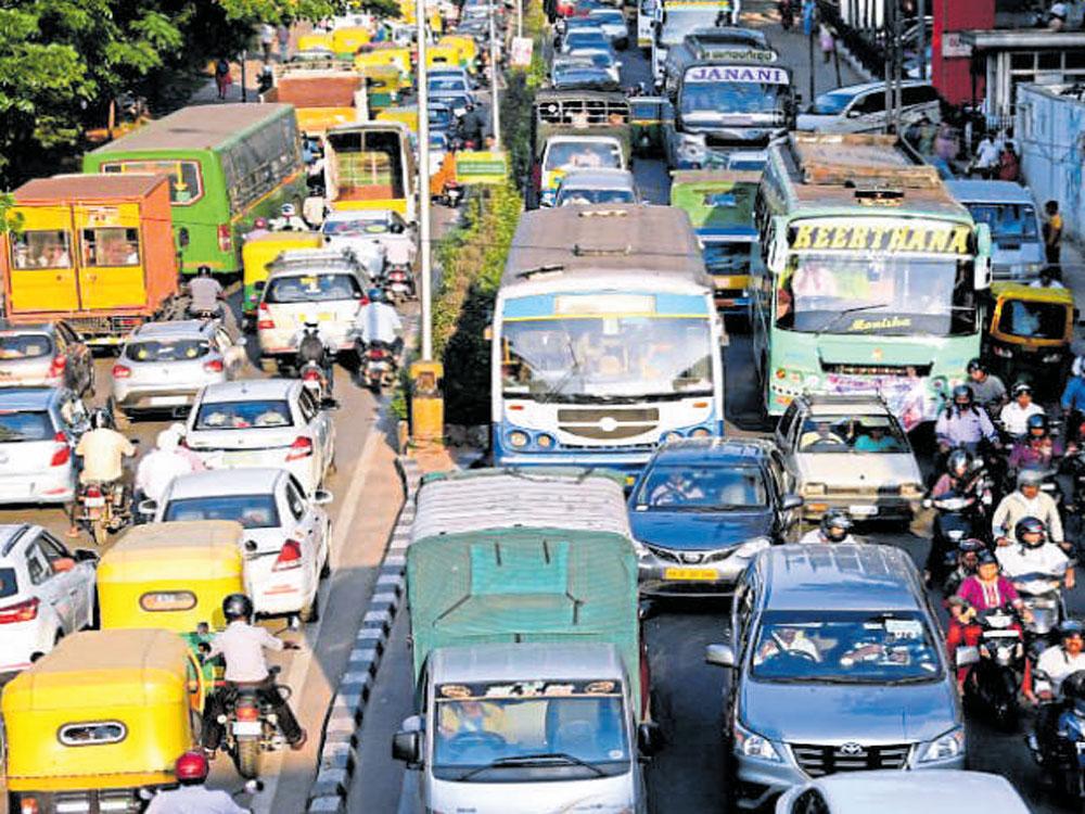 Rally, JD(S) meet choke city roads, harass commuters