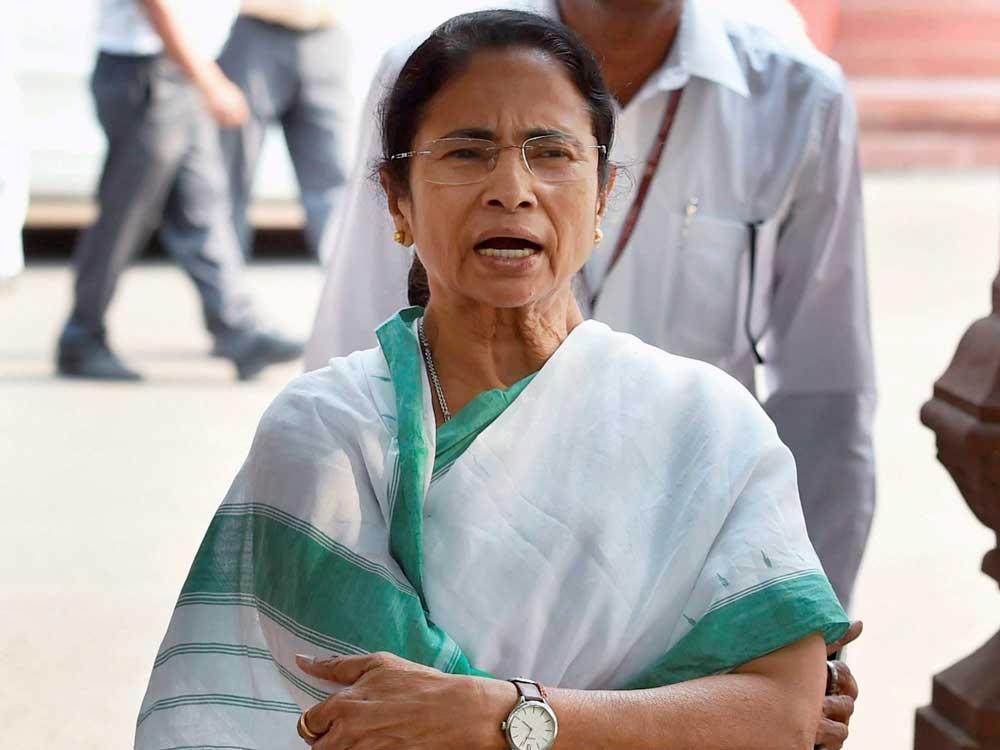 Mamata criticises Modi govt for decline in GDP growth