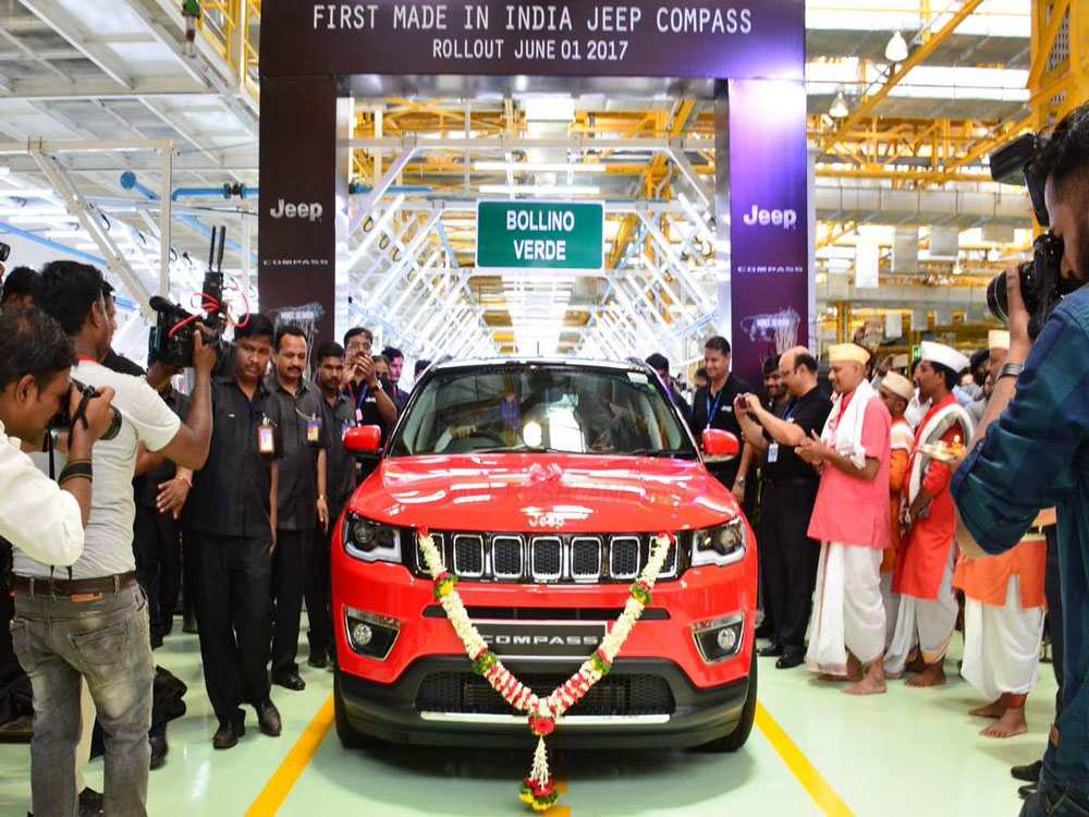 First Made-in-India Fiat Chrysler's Jeep Compass unveiled