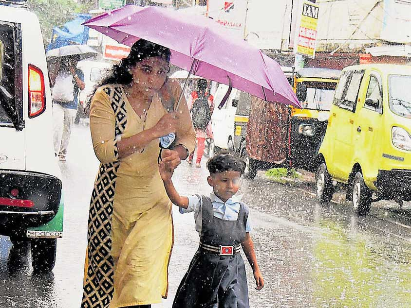 Off-shore trough keeps monsoon active in south
