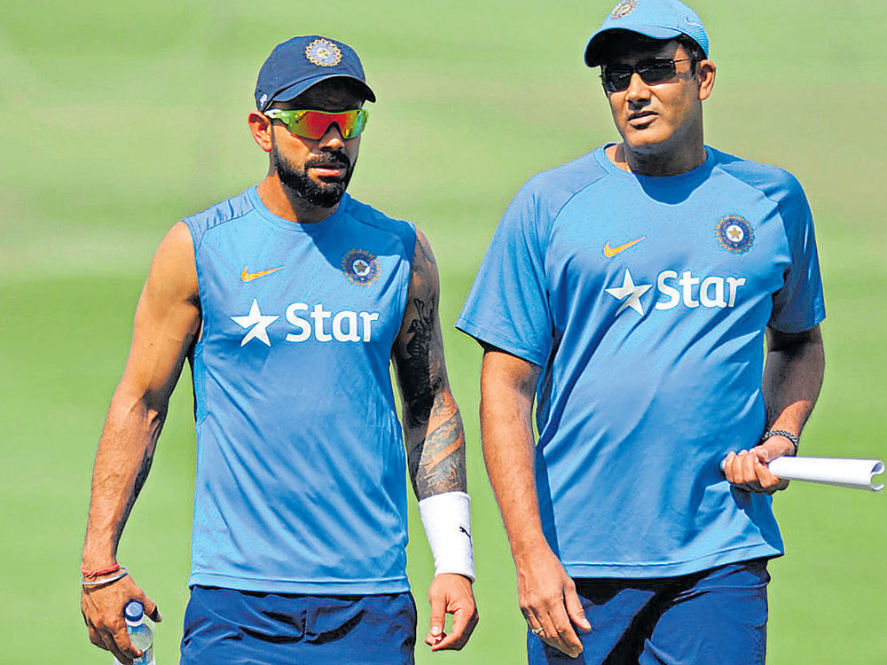 Kohli rubbishes report of rift with Kumble