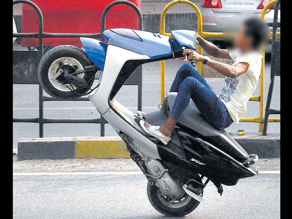 Bikes used for wheelies could be junked, warn cops