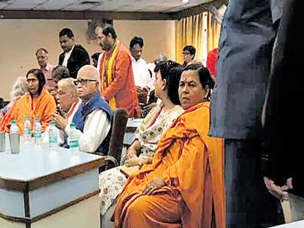 As CBI court holds Babri hearings, temple issue hots up in UP