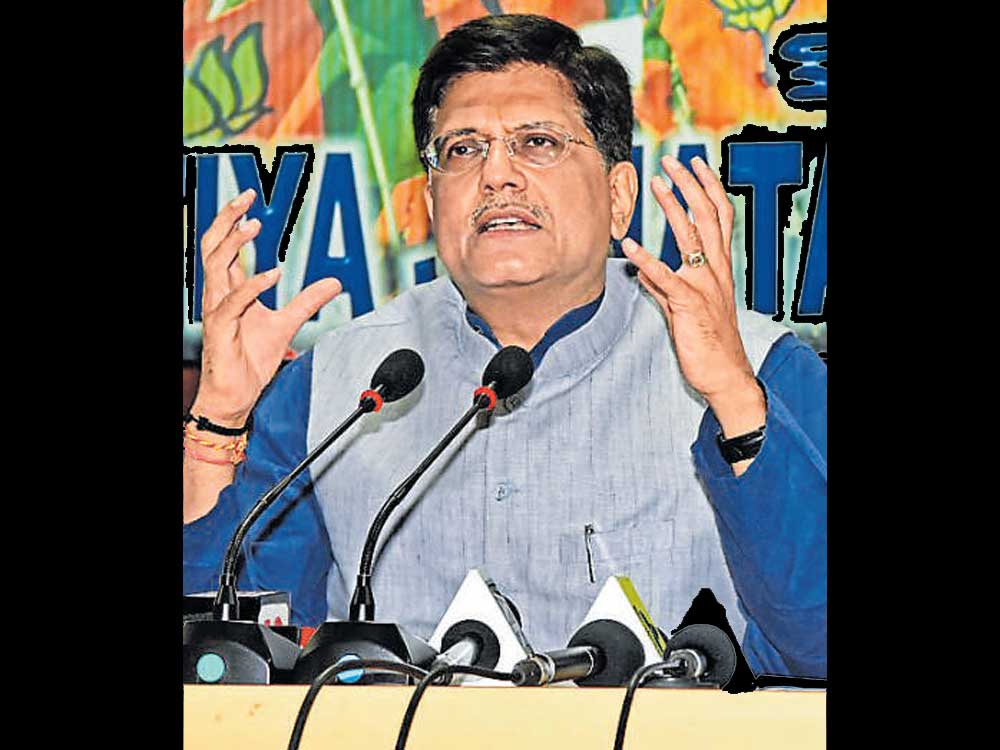 State not working with Centre to implement schemes: Goyal