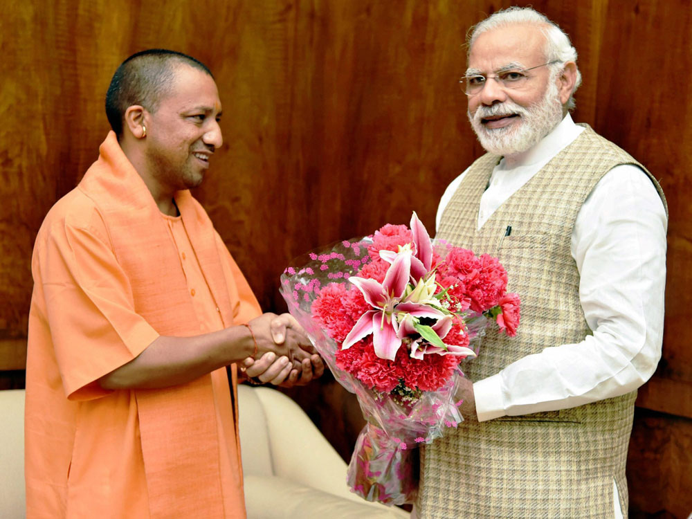 BSP leader arrested for posting 'objectionable' photo of Modi and Yogi
