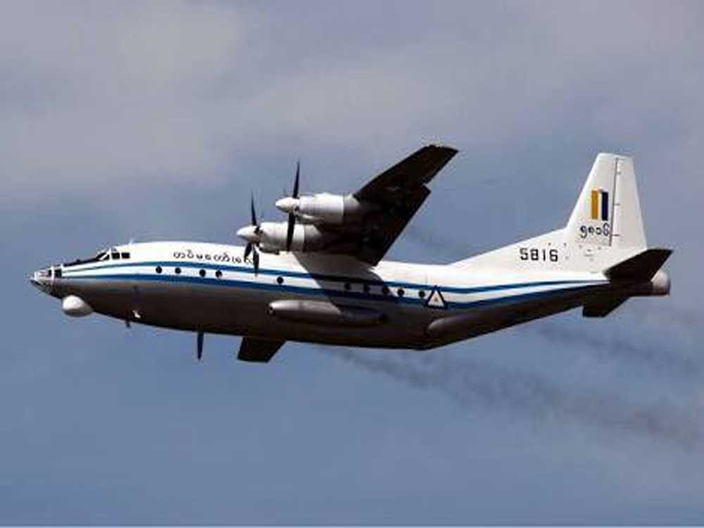 Debris from Myanmar military plane found in sea: official