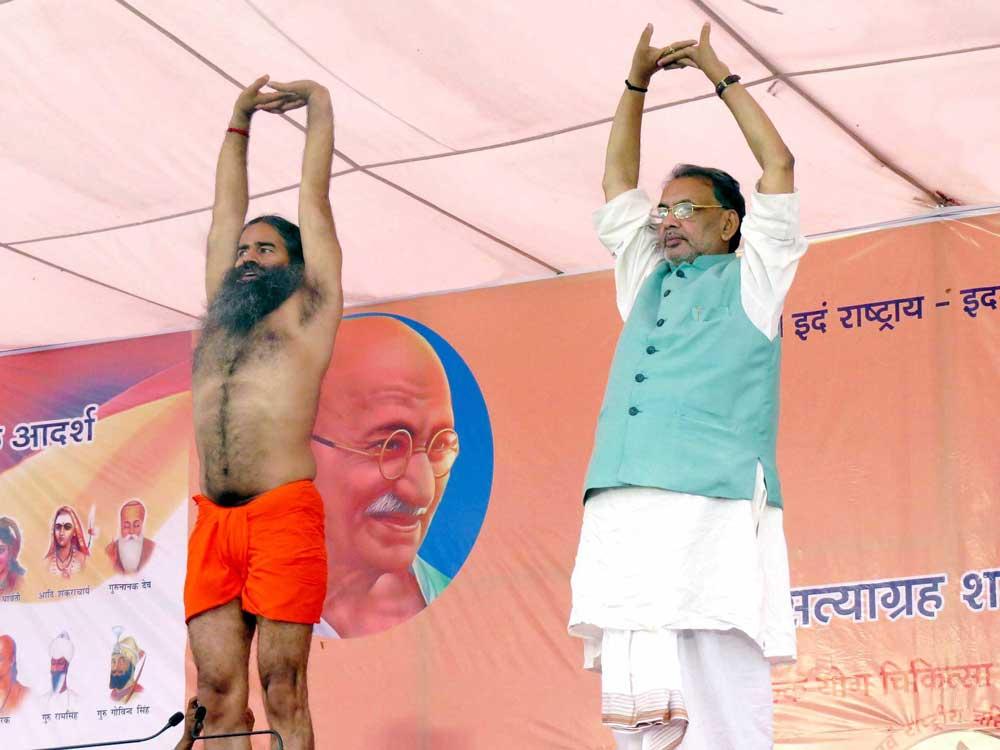 As MP boils, agri minister does yoga