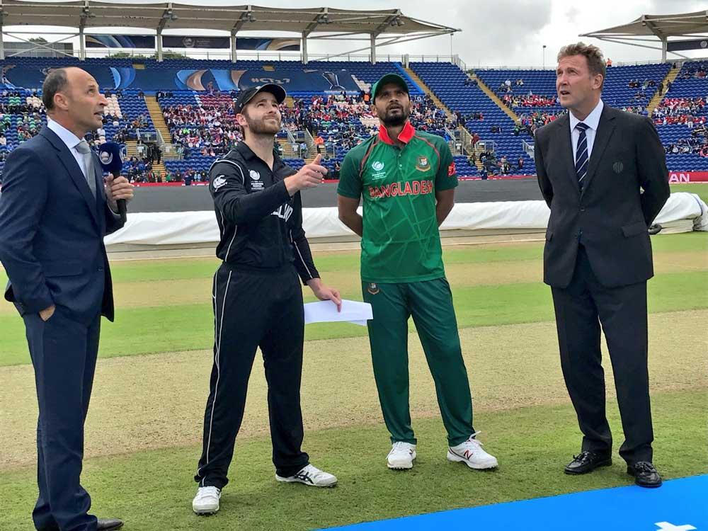 New Zealand opt to bat against Bangladesh