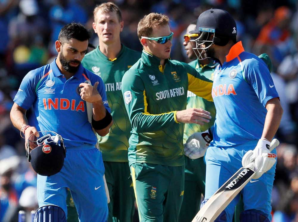 India crush South Africa cruise into semi-finals of Champions Trophy
