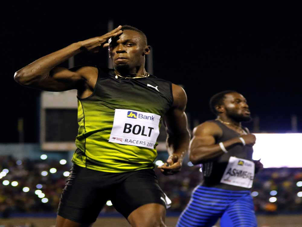 Bolt provides fireworks in Jamaican swan-song