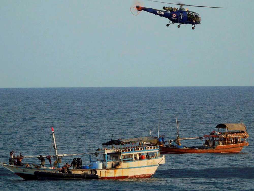 Navy starts patrolling high seas near Malacca Strait