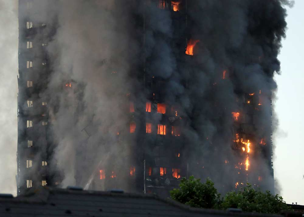 Rain-screen cladding may have made London fire worse: Reports