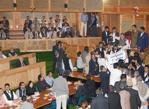NC legislators protest use of force on students in J-K Assembly
