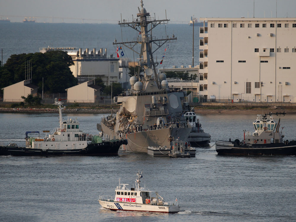 Seven US Navy crew missing, commander hurt in crash off Japan
