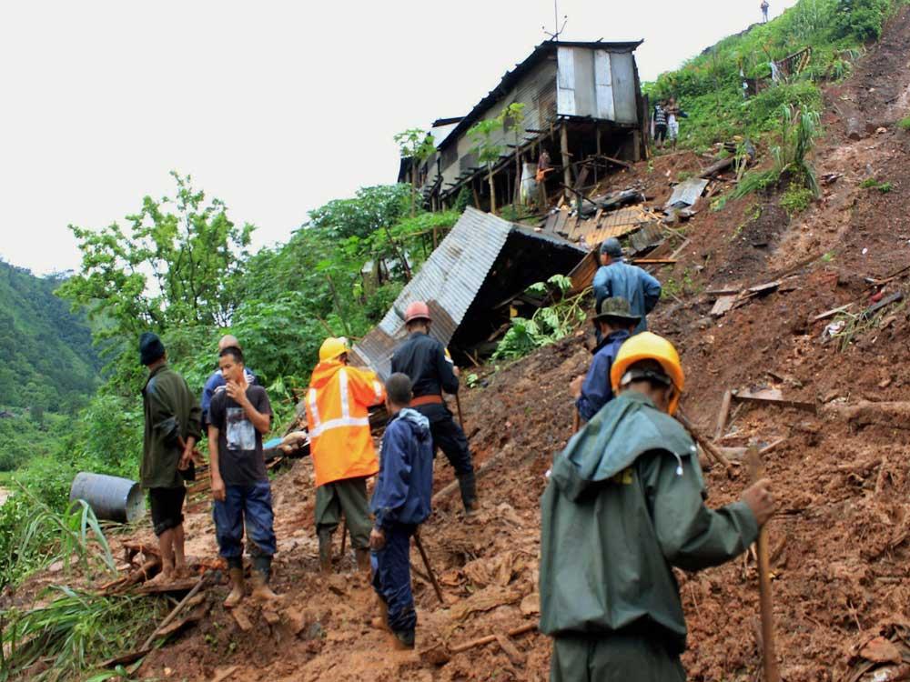 Six killed in Meghalaya landslides