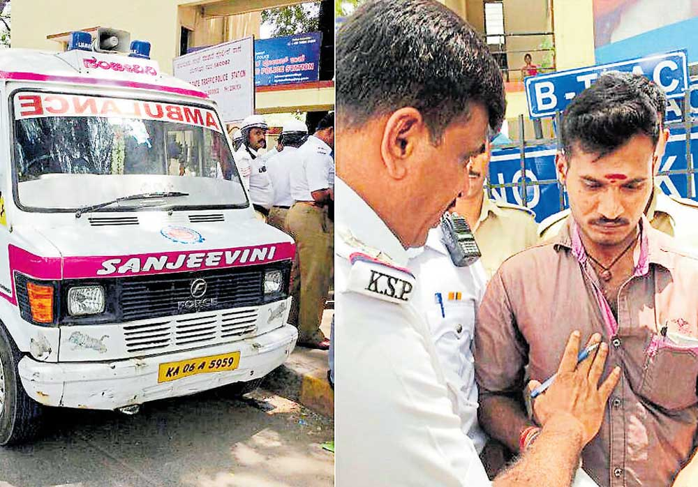 Ambulance driver caught for drunk-driving, vehicle seized
