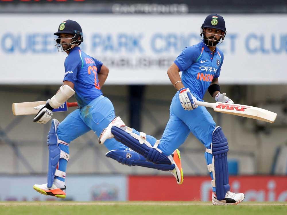 Rahane's ton sets up India's 105-run thrashing of West Indies