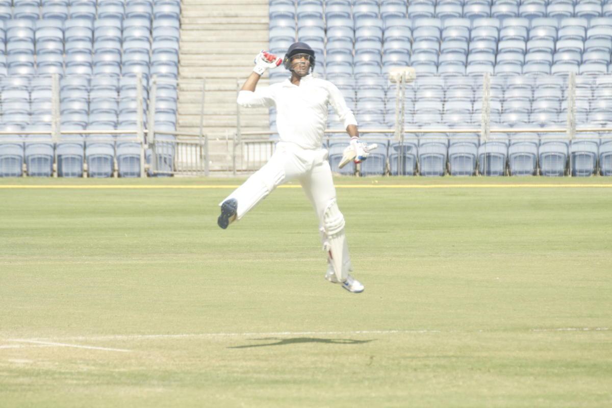 Mayank triples Karnataka's joy
