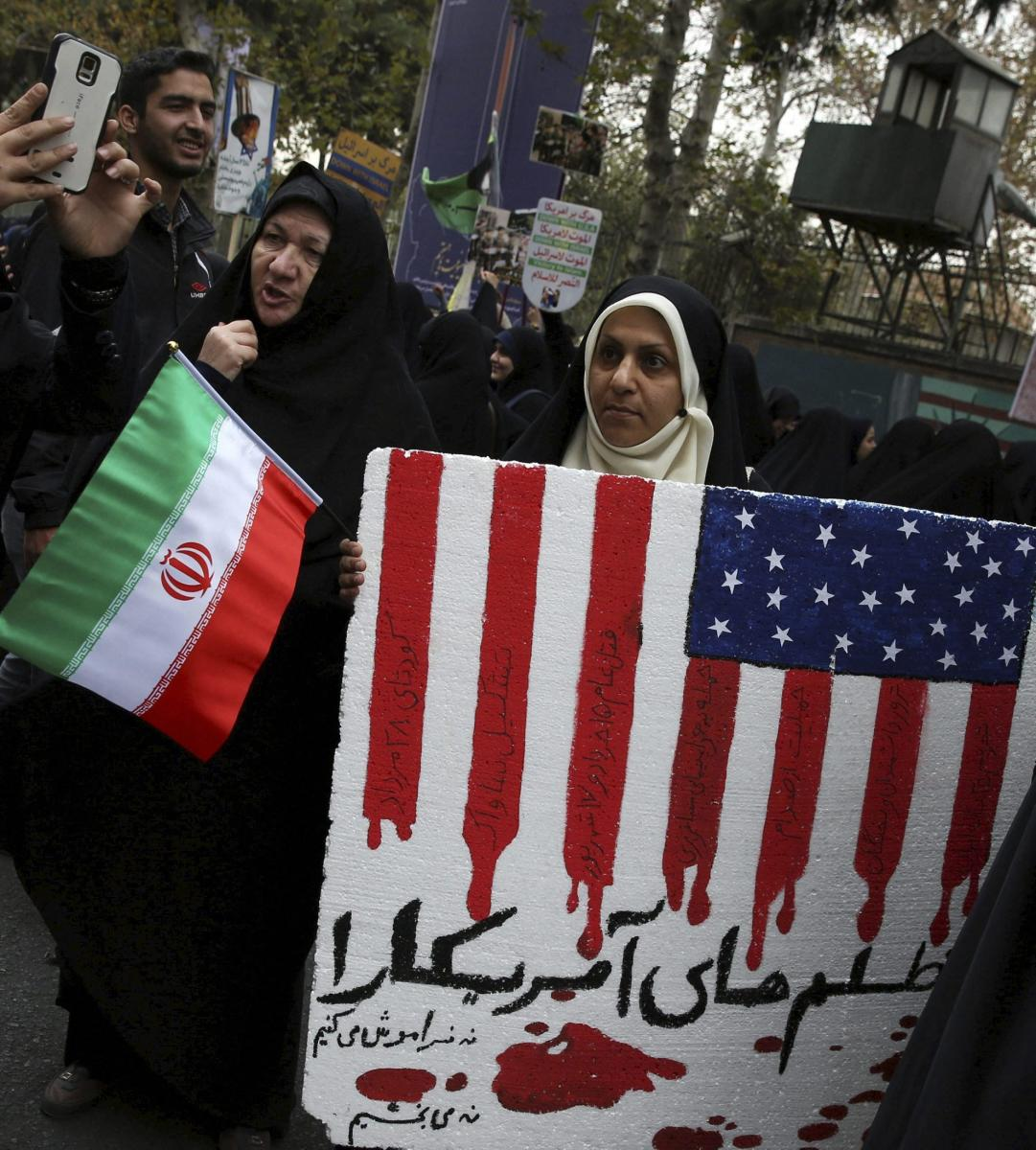 Thousands of Iranians protest against Trump
