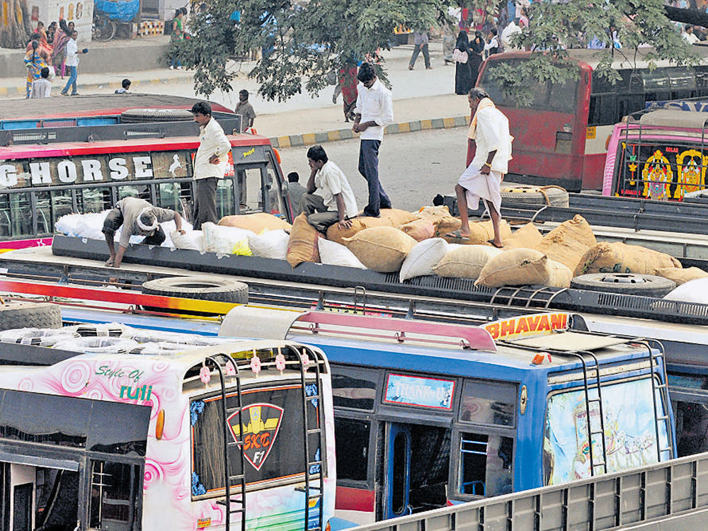 Private buses may be restricted to margins of city