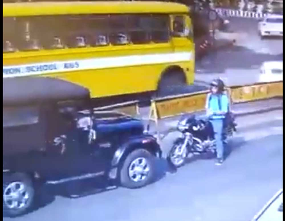 Watch: Man stands up to SUV driver for going on the wrong side of the road