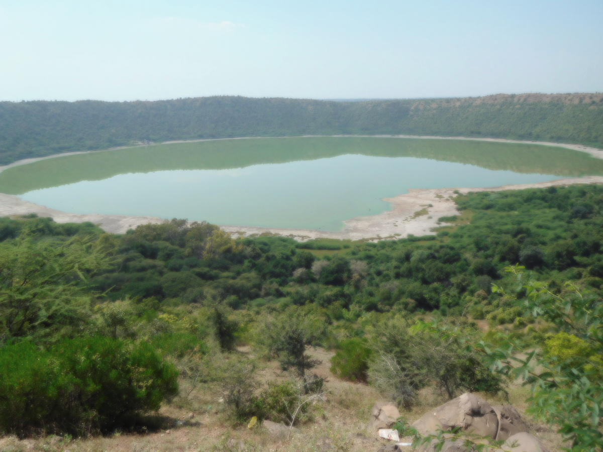 Lonar lake a gift from the sky