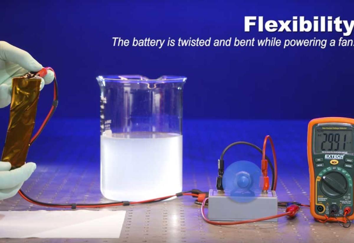 Safer flexible lithium-ion batteries developed