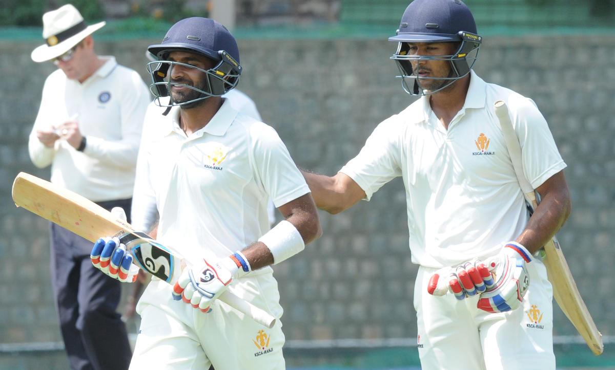 Samarth, Mayank slam tons in draw