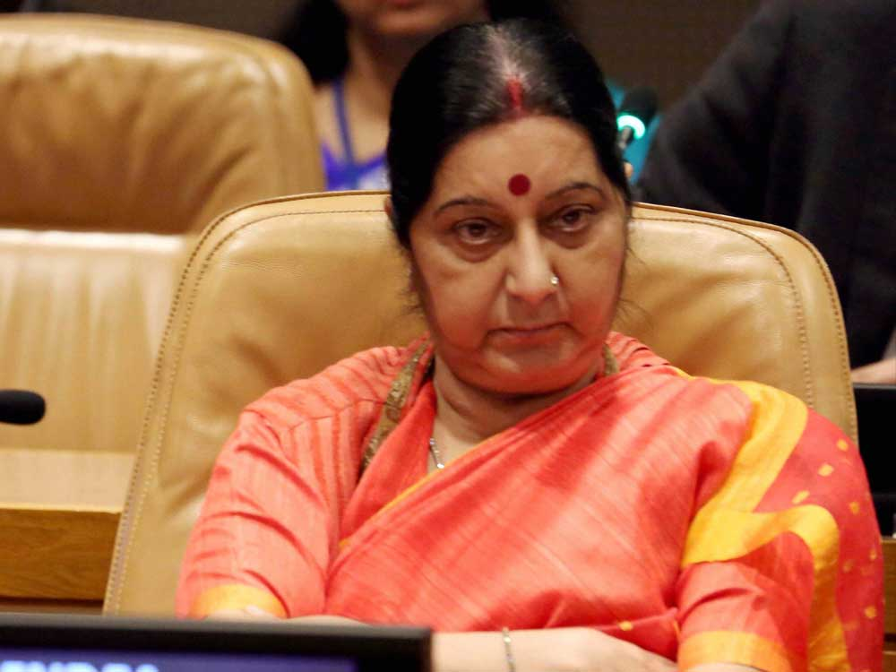Swaraj congratulates Bhandari on re-election to ICJ