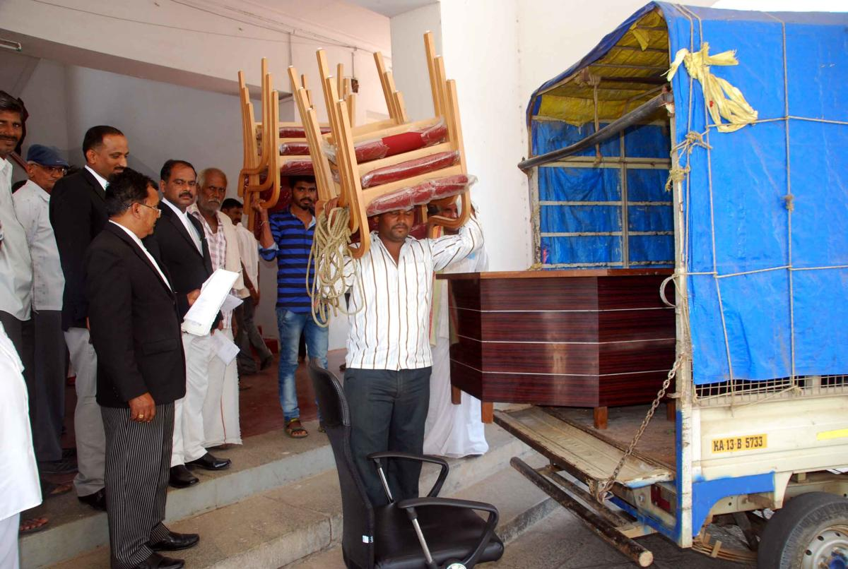 Special land acquisition office furniture seized