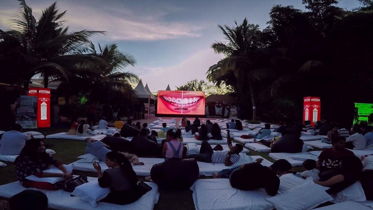 Open air movie at GRS Fantasy Park