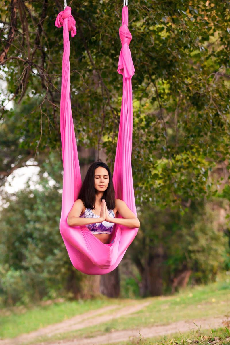 Try flying bird yoga for flexibility