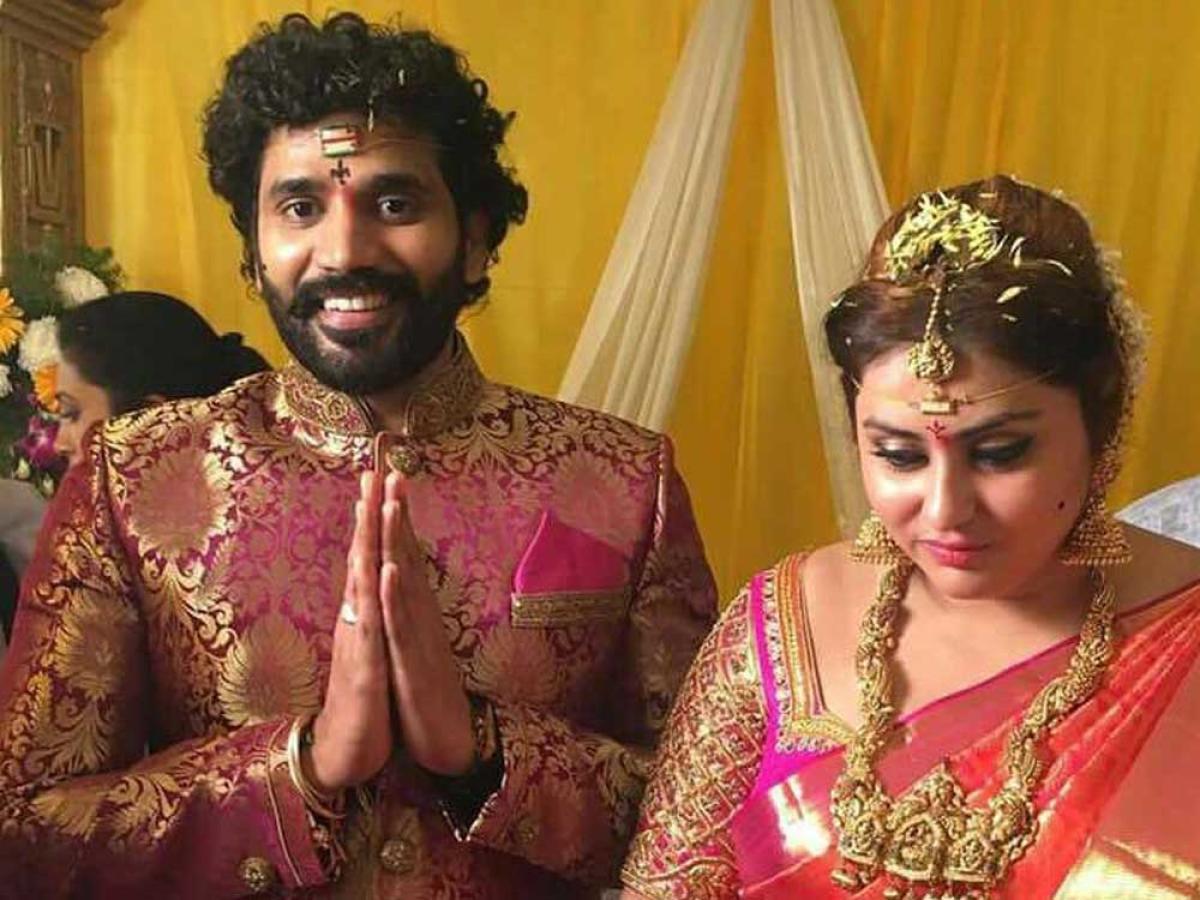 Actress Namitha weds producer