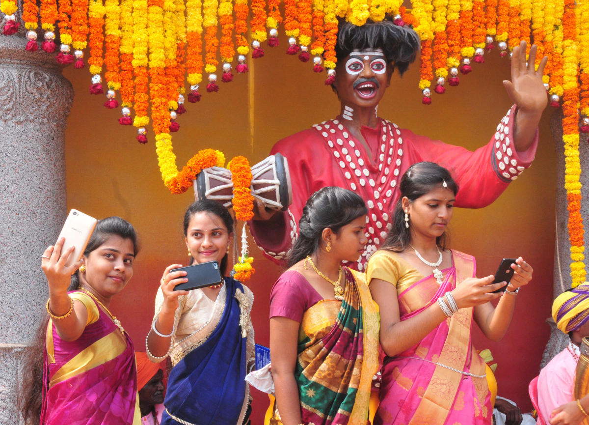 Heritage city adorn with colours of Kannada