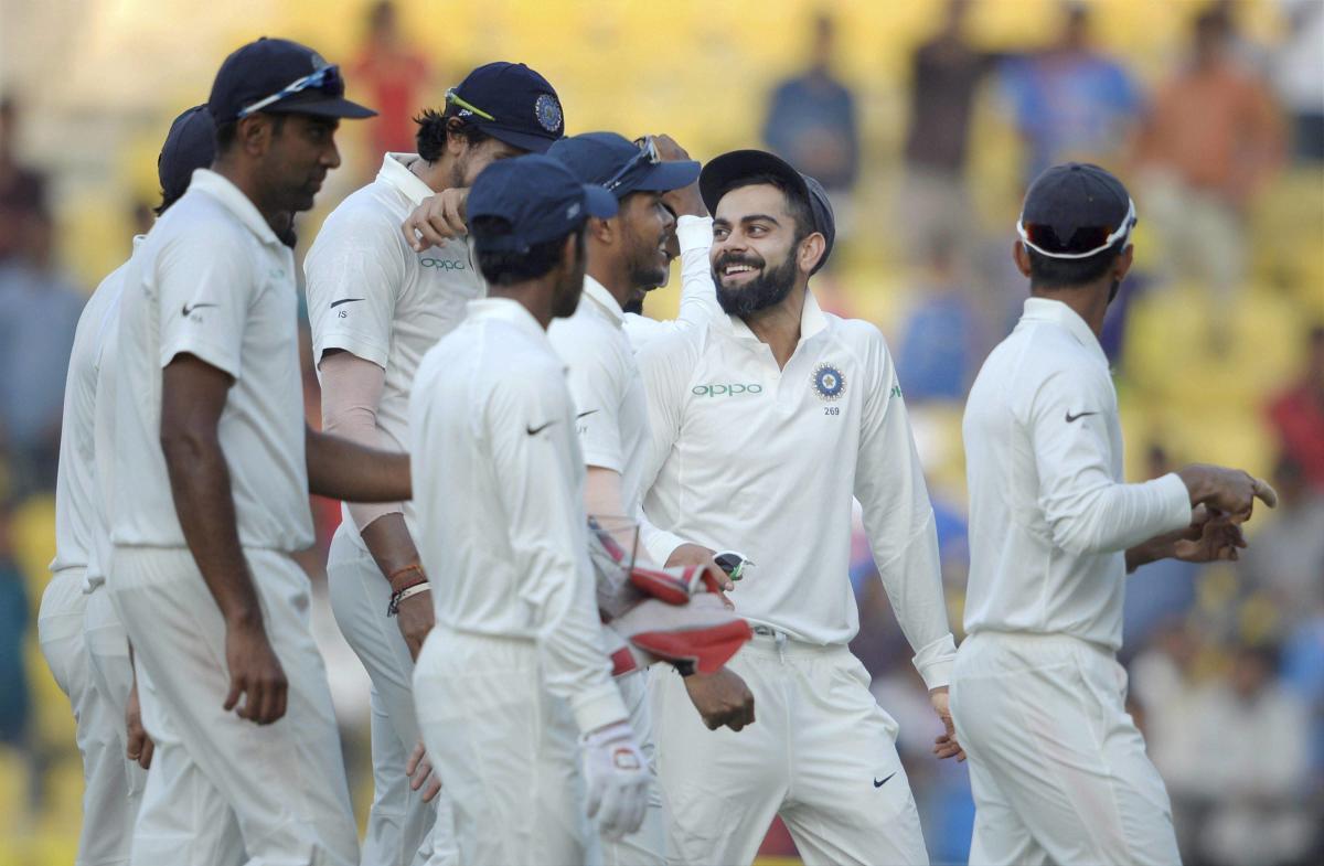India crush Sri Lanka by innings and 239 runs