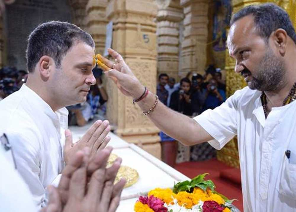 Rahul Gandhi didn't sign register for non-Hindus at Somnath Temple, says Cong