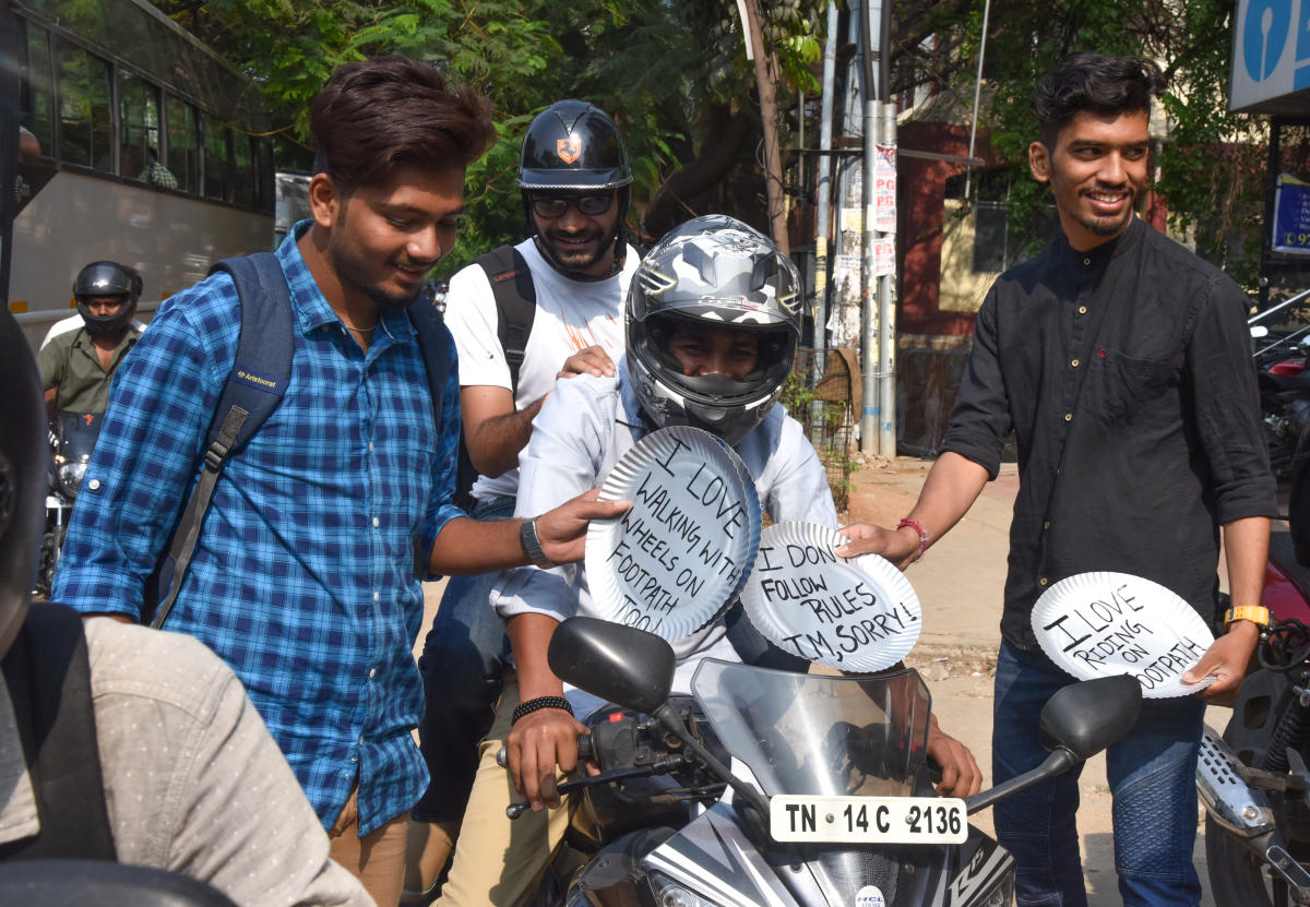 Footpath saviours 'award' bikers on pavement