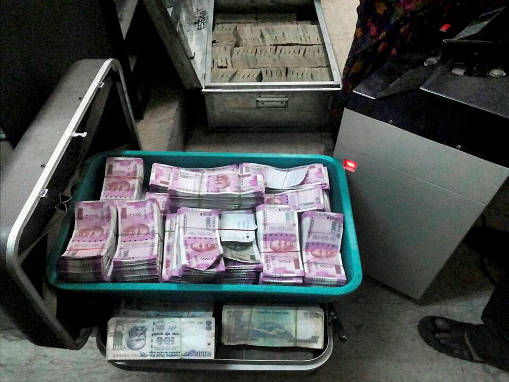Cash seized near Goa border