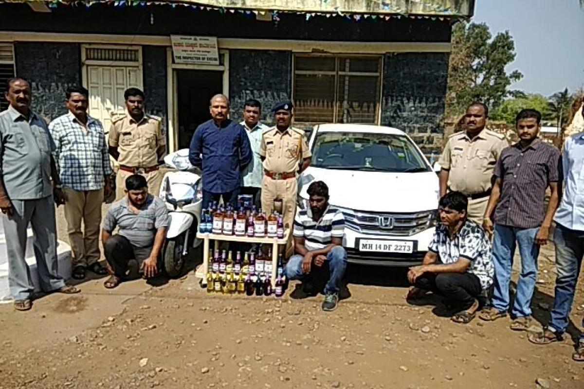 Liquor, vehicles worth Rs 5.50 lakh seized