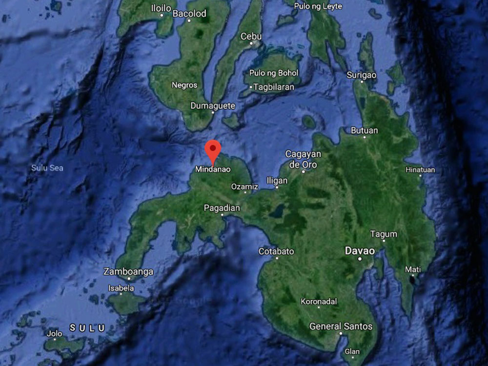 Moderately strong quake off southern Philippines