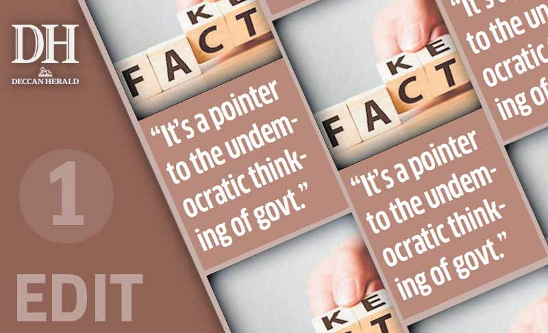Media freedom target, not fake news