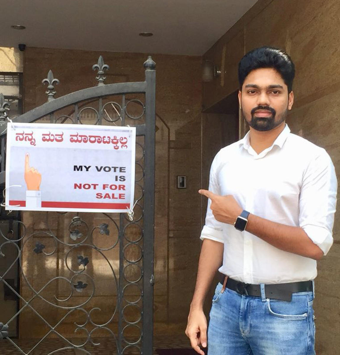 'My vote is not for sale' campaign in city