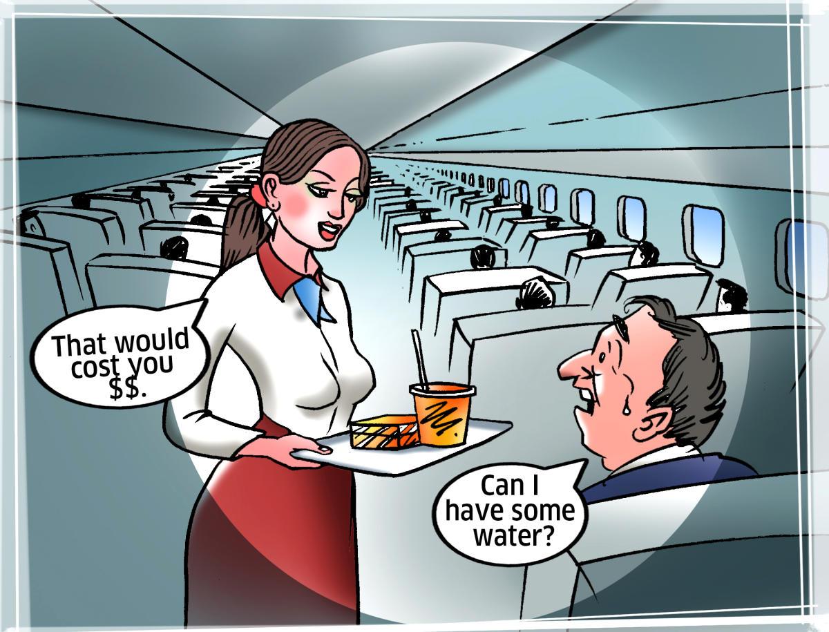 Surprises when you travel economy class ?