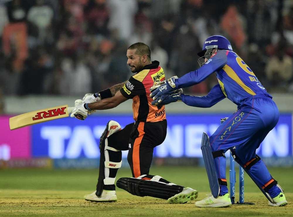 Dhawan dazzles as Sunrisers waltz past Rajasthan