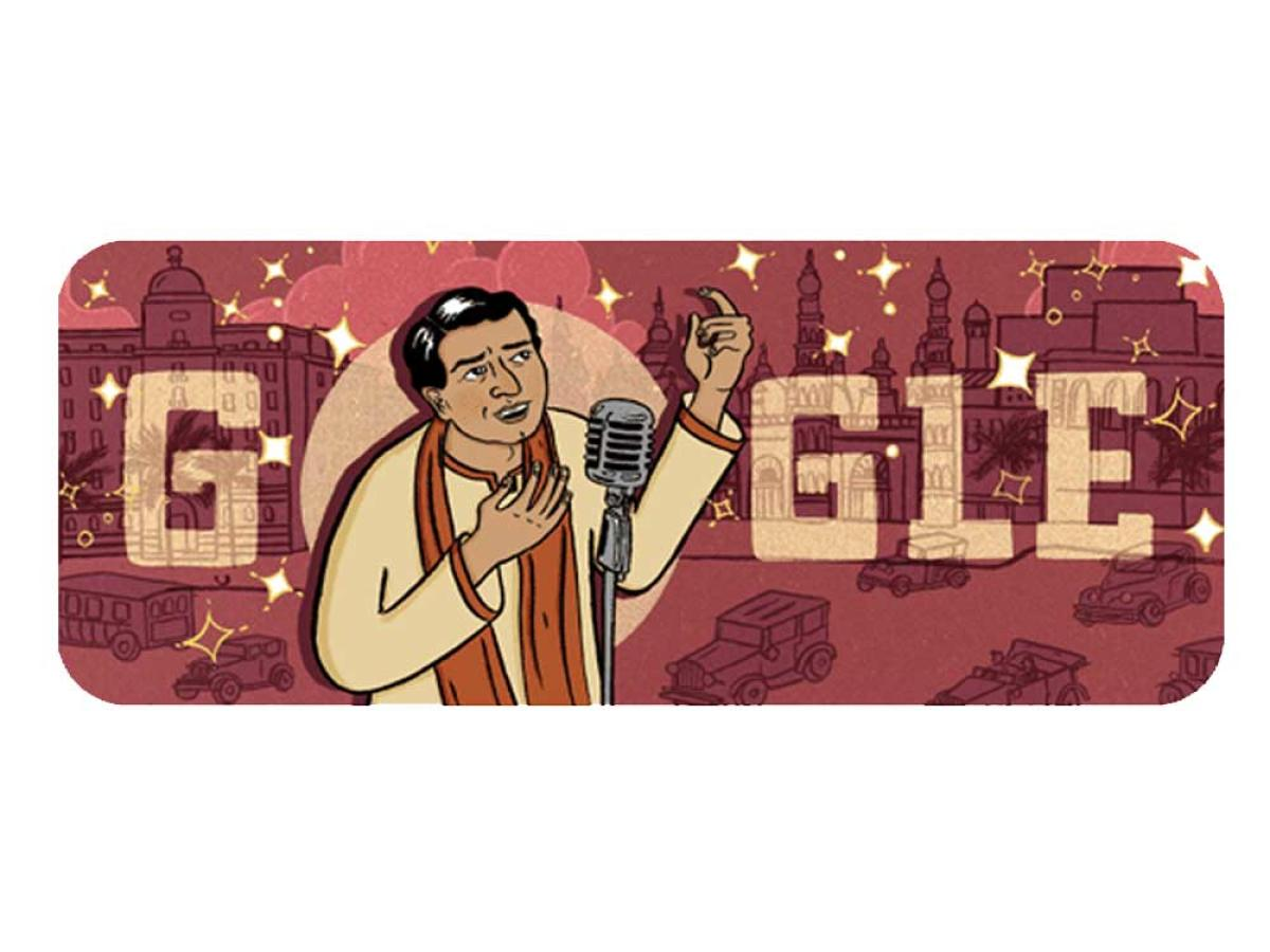 Google celebrates birth anniversary of KL Saigal with a doodle