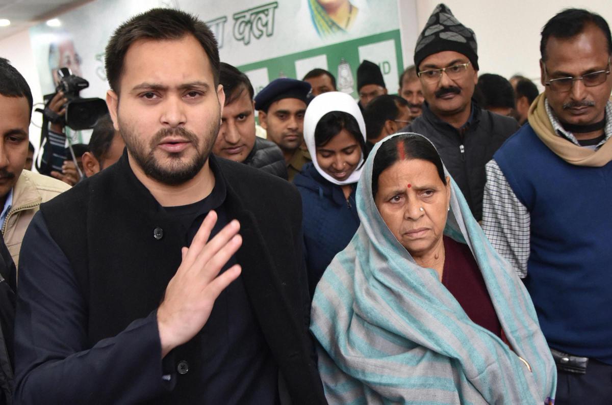 Rabri, Tejashwi 'return' state security, slam Nitish Kumar