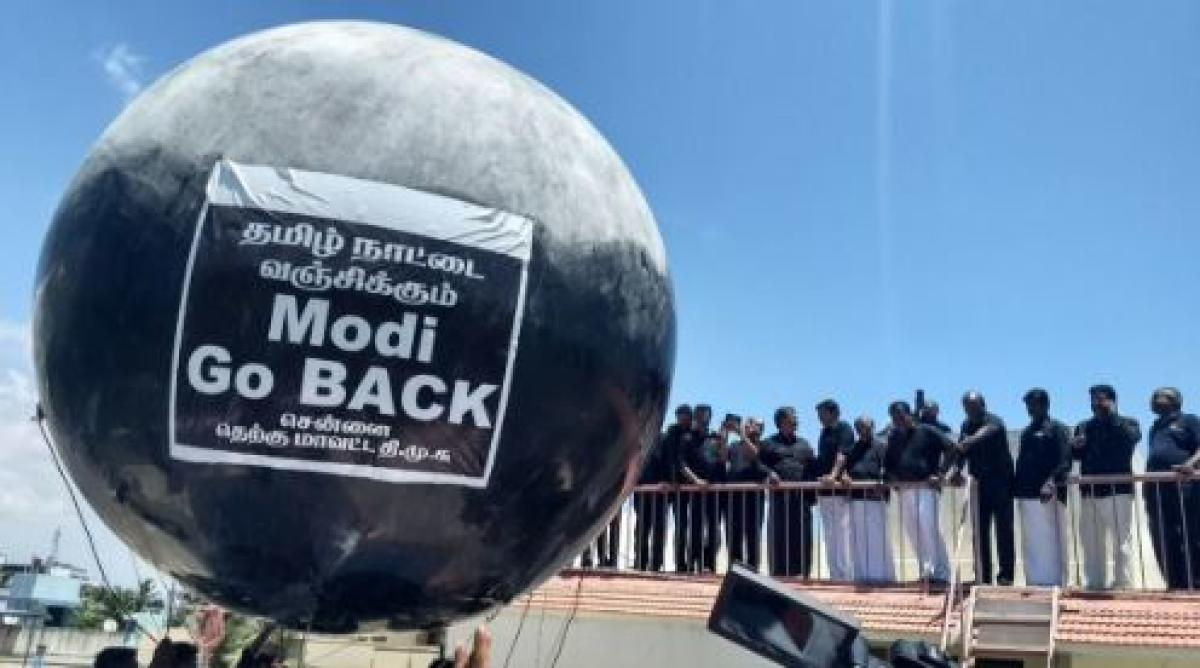 PM gets black balloon welcome