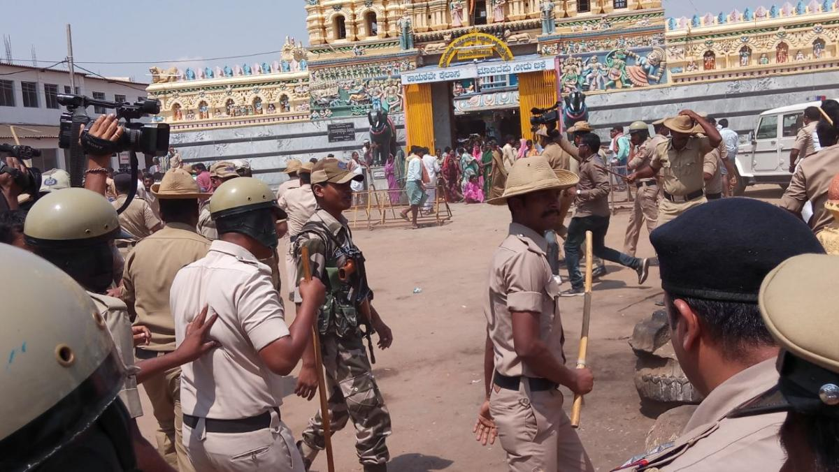 Violence erupts as Sriramulu begins his campaign