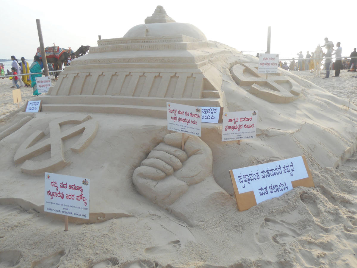 Sand art for SVEEP on Malpe beach