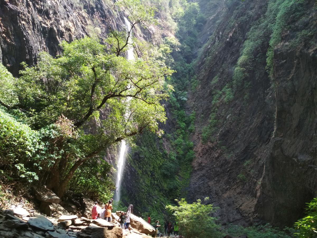 A view of Kudluteertha Waterfalls near Hebri. Photo by Author